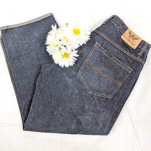 Victorious Premium Jeans Black Roll/Cuff Hem Jeans